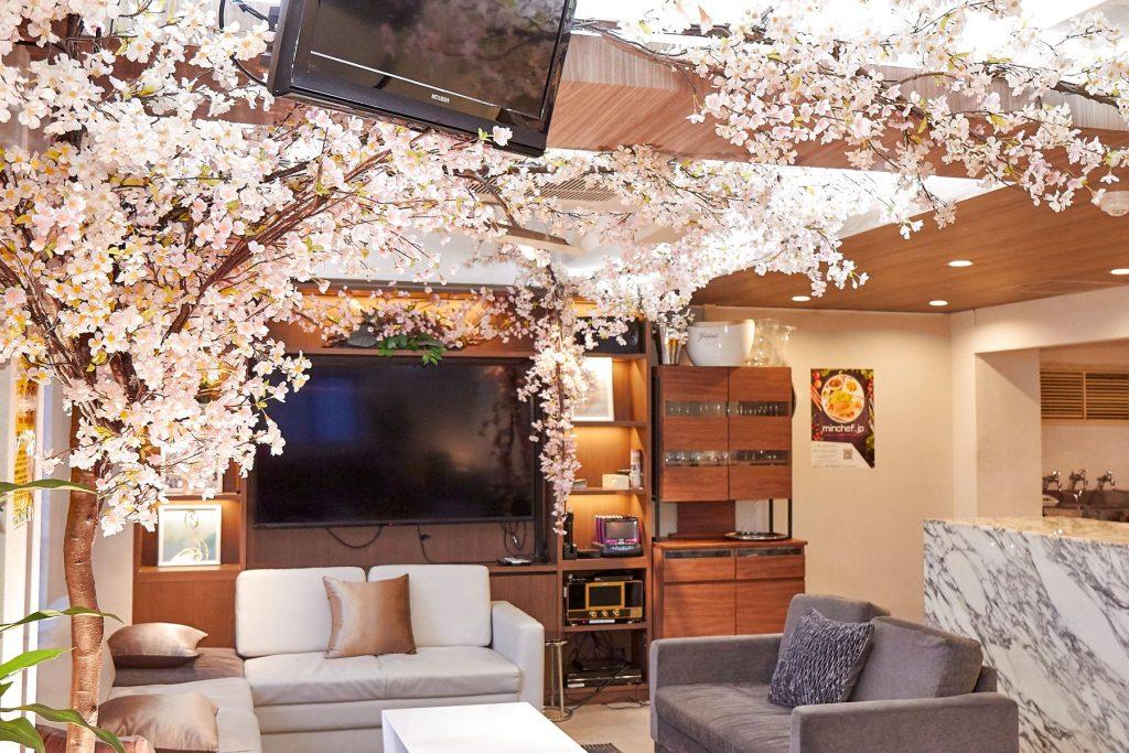 室内花見ができる歓送迎会向けレンタルスペース