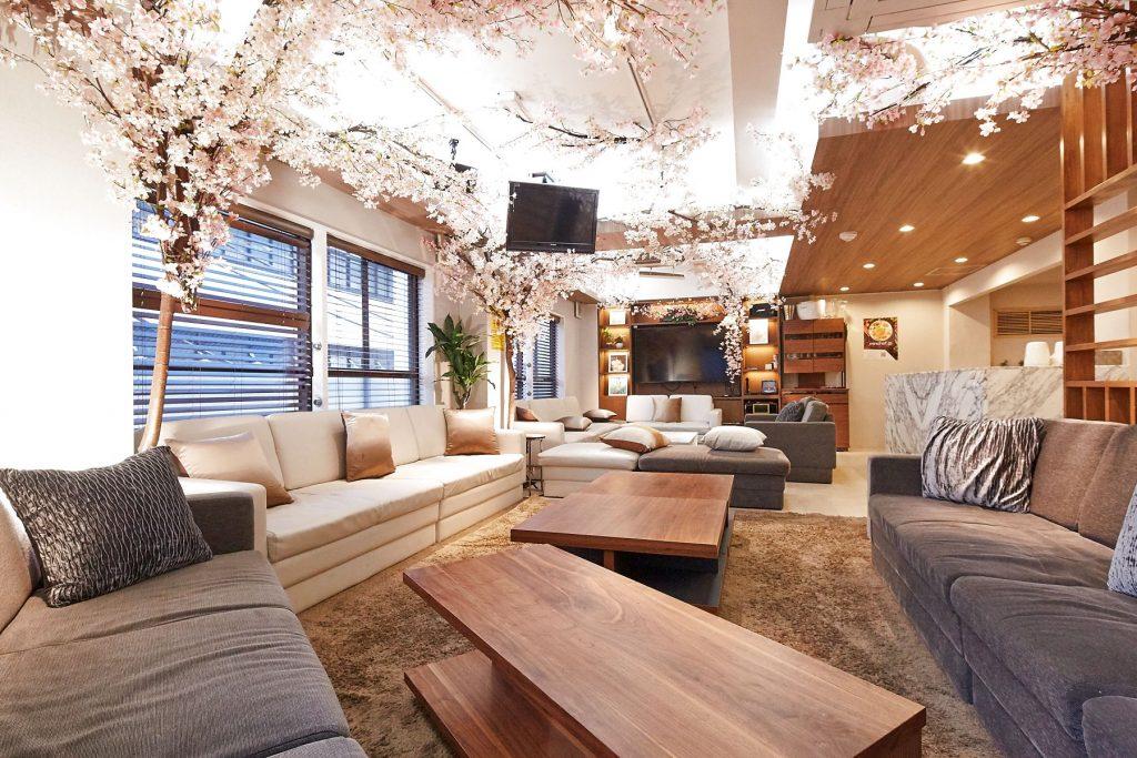 室内花見対象スペース「六本木パーティールーム Lounge-R-Premium」